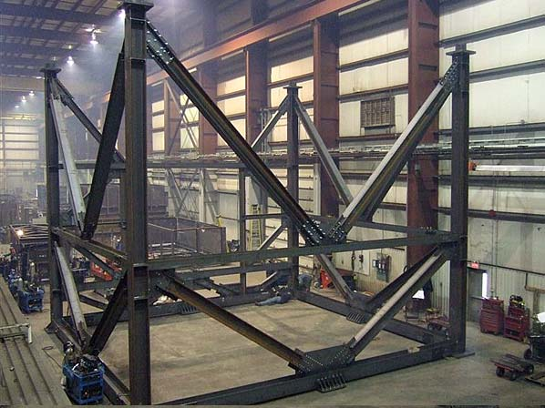 Trial Fit of an Oil SCR Support Structure Inside our Ancaster, Ontario Facilities