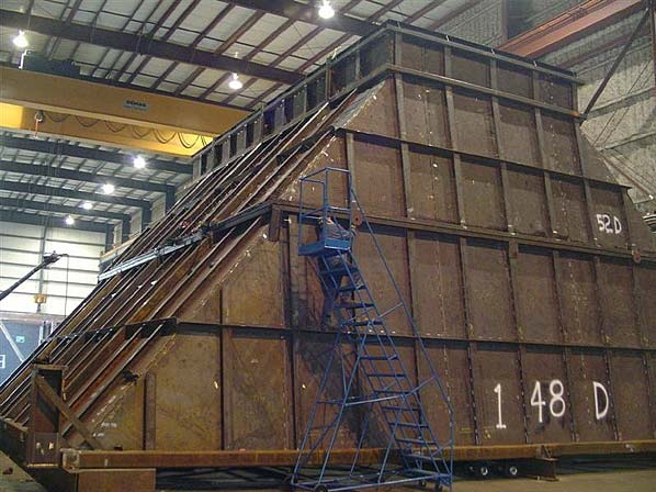 Trial Fit of an Upper & Lower Coal SCR Hopper at our Ancaster, Ontario Facilities