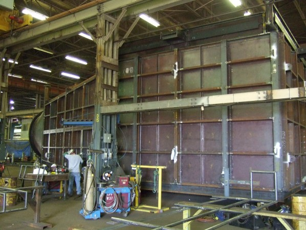 Oil Refinery Ductwork Trial Fit in our Brantford Plant